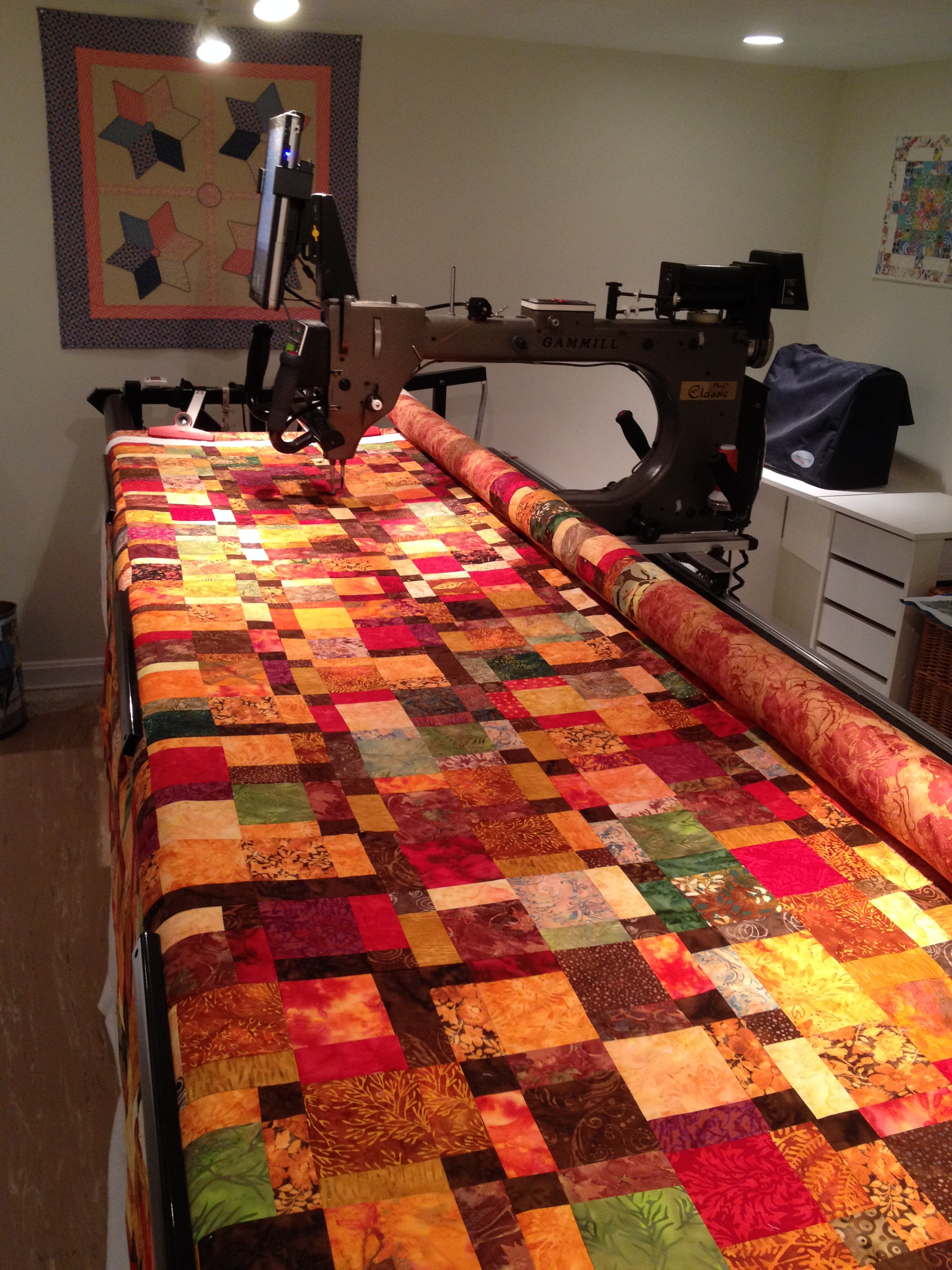 Gallery of Quilts | Machine Quilting Services of Vermont : fall quilt - Adamdwight.com